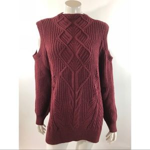 Rachel Roy Womens Plus Sz 2X Cold Shoulder Sweater